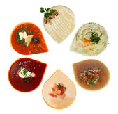 Soup, top view - gourmet restaurant food — 图库照片