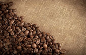Roasted brown coffee beans — Foto Stock