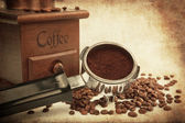 Coffee handle with mill — Stock Photo