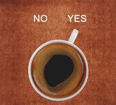 Xícara de café, mostrando sim — Foto Stock