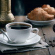 Fresh breakfast with coffee — Stock Photo