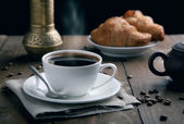 Fresh breakfast with coffee — Foto de Stock