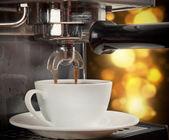 Coffee machine preparing cup of coffee — Stock Photo