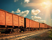 Freight train — Stock fotografie