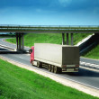 Trucks on a road — Stock Photo