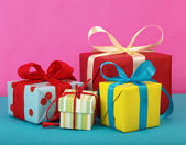 Variety of gift boxes — Stock Photo