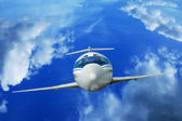 Airplane flying in the sky — Stock Photo