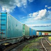 грузовые вагоны — Стоковое фото