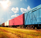 Freight train — Foto de Stock