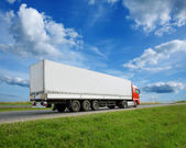 Truck on a road — Stock Photo