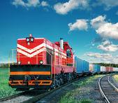 грузовой поезд — Стоковое фото