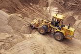 Bulldozer on a construction site — Stock Photo