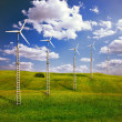 Stock Photo: Wind turbines