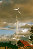 Private wind turbine — Stock Photo