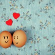 Funny eggs in love — Stock Photo