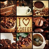 Coffee concept collage — Stock Photo