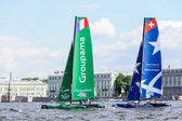 Extreme 40 Sailing series race 2014 in Russia, Saint-Petersburg — ストック写真