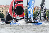 Extreme 40 Sailing series race 2014 in Russia, Saint-Petersburg — Stock Photo