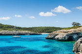 Anchorage at Mallorca nationl park landscape. — Stock Photo
