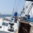 Sailing yacht going fast on full sails — Stock Photo #50862177