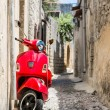 Classic red scooter — Stock Photo #50862297