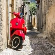 Classic red scooter — Stock Photo #50862299