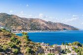 Taormina, Sicily, Wonderful view of seaside. — Stock Photo