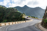 Mountain roads to wild beach. Tenerife. — Stock Photo