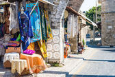Walking through Rhodes fortress and old town — Stock Photo