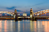 Piter the first bridge in Saint-Petersburg, Russia — Stock Photo