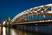Piter the first bridge in Saint-Petersburg, Russia — Photo