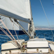 Yacht sail in the Atlantic ocean — Stock Photo #51504879