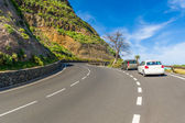 Mountain road at La Gomera island. Spain. — Stock Photo