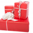 Red gift boxes — Stockfoto #7927900