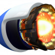 Sci Fi Jet Engine - Stock Photo