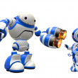 Robot with Two PlasmGuns Pointing at Enemy — Stock Photo #12078263