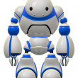 Big Cute Robot Standing Guard — Stock Photo