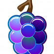 Grapes Vector Icon — Stock Photo
