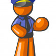 Orange MPolice Officer — Stock Photo #13000191