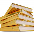 Stock Photo: Golden Stack of Books