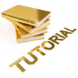 Tutorial Golden Books Education Image — 图库照片