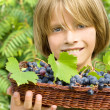 Happy child in the vineyard — Stock Photo