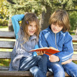 Children learn in nature - Stockfoto