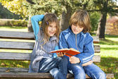 Children learn in nature — Stock Photo