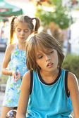 Sad children — Stock Photo