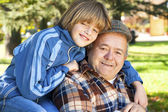 Grandfather and grandson — Stockfoto