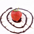 Stock Photo: Fresh strawberries with chocolate sauce