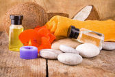 Spa concept and essential oils — Stock Photo