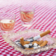 Cigar and ashtray — Stock Photo