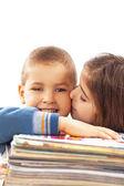 Happy children learning — Stock Photo